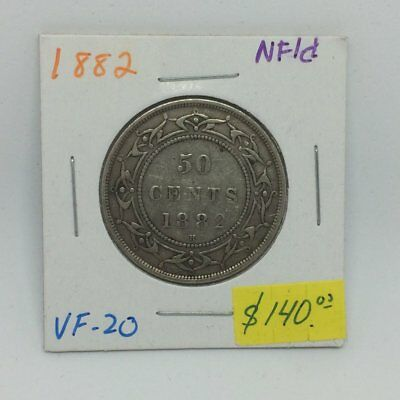 1882 Newfoundland Silver 50 Cents Victoria lot-11