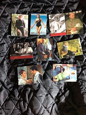 James Bond 007 Trading Cards Lot Of 9 From 1996