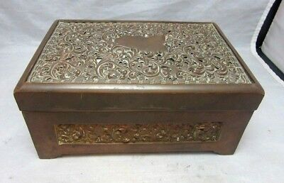 Heavy, vintage brass ornate jewelry box. Great for Tarot