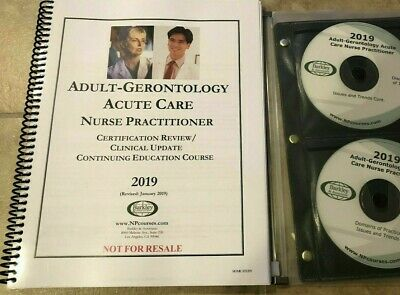 2018 Barkley Adult-Gero ACUTE CARE NP Review Book + All CDs AUTHENTIC & BRANDNEW