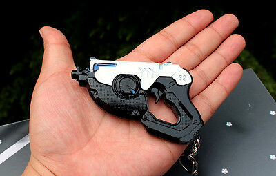 HOT Blizzard Game OVERWATCH TRACER mini gun keychain