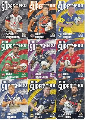 2018 Nrl Xtreme Game Superhero Trading Card Team Sets - Broncos, Panthers, Eels,