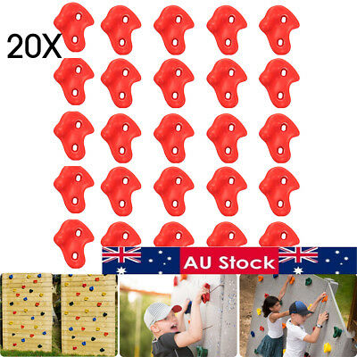 AU 20x Textured Climbing Rock Wall Stones Holds Hand Feet Kids Assorted Set