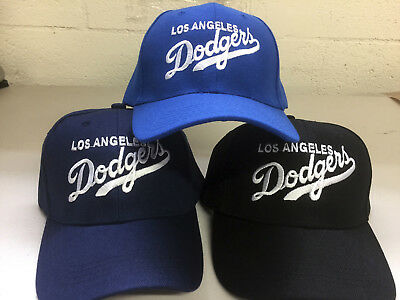 Los Angeles Dodgers Cap Hat Embroidered LA Men Adjustable Curved Writing