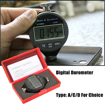LCD Display Digital Shore A/C/D Durometer Tyre Rubber Plastic Hardness Tester