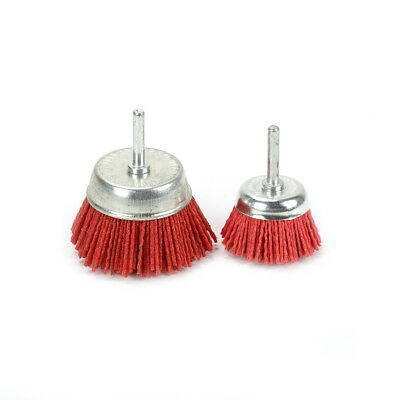 2PC 2Inch 3Inch Grit 120 80 Cup-shaped Abrasive Nylon Wire Brush Polishing Wheel