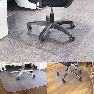 Frosted Non Slip Office Chair Desk Mat Floor Carpet Protector PVC Plastic New