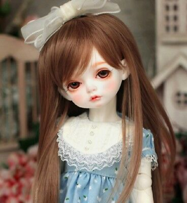 "New 1/8 Girl BJD SD Doll Wig Dollfie 5"" DZ DOD LUTS Big Baby Bjd Doll Wig"