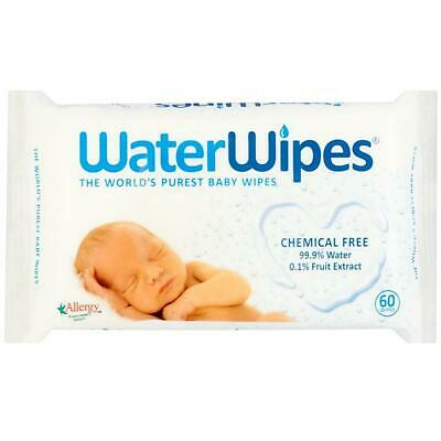 Water Wipes Baby Wipes Chemical Free - 60 Wipes 1 2 3 6 12 Packs