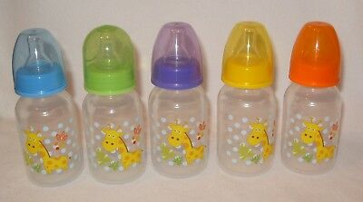 5 x New 150ml 5oz Cute Giraffe Baby Bottles From Birth Ideal For making Reborn