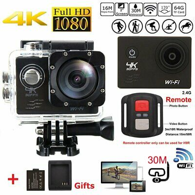 Ultra HD 4K Action Camera Wifi Video Waterproof + 30PCS Accessories For Gopro UK