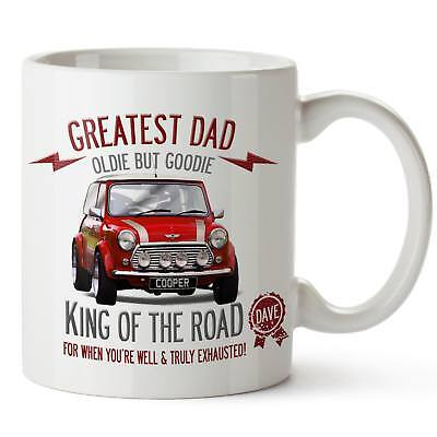 PERSONALISED MINI COOPER Red Car Mug Best Dad Cup Fathers Day Gift ...
