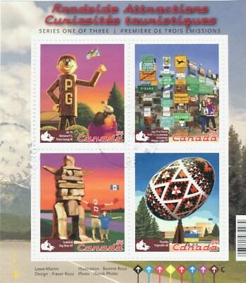 #2335 Roadside Attractions souvenir sheet Canada mint