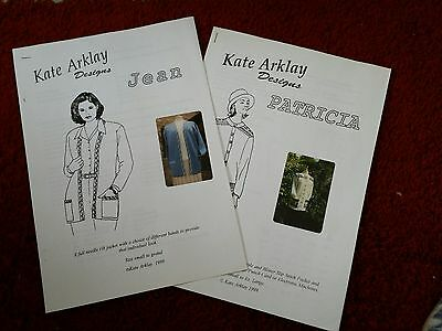 2 Kate Arklay machine knit patts.  please see description and photos