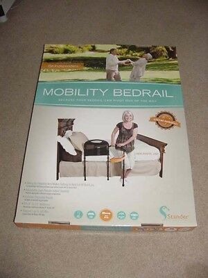 """Stander 5850 Mobility Bedrail Swing Out Arm Adjustable Legs 8-18"""" Mattress Adult"""