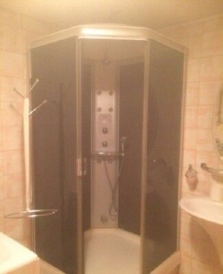 SHOWER CABIN Ido shoverama White-Silver - £275.00 | PicClick UK