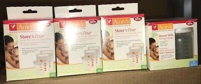 AMEDA Storage Bottles and Store'n Pour Storage bags refill