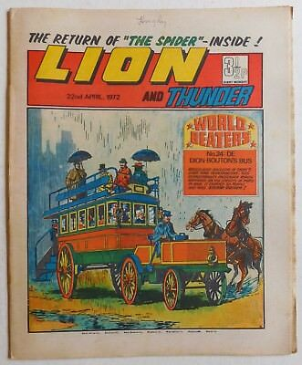 LION and THUNDER Comic - 22nd April 1972
