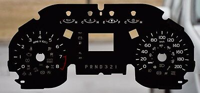 Gauge Overlay/ Faceplate For 2015 -2017 Ford F150 - Prnd321 -Small Window  Km/ H