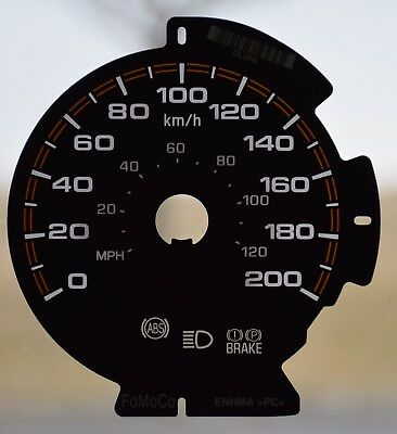 Gauge Overlay/ Faceplate  For 2015-2017 Ford F150 -Ltd  Km/ H