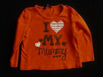 Baby clothes GIRL 12-18m bright red/black/white hearts soft long sleeve t-shirt