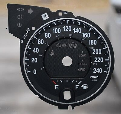 Gauge Overlay/ Faceplate For 2012-2014-Jeep Grand Cherokee Km/ H