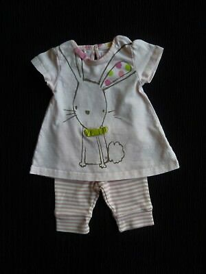 Baby clothes GIRL premature/tiny<7.5lbs/3.4k NEXT outfit S/S rabbit top/leggings