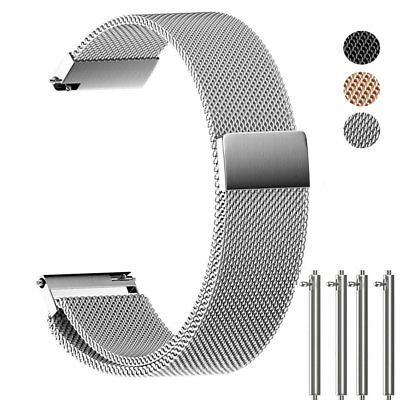 ANMU Milanese Band Replacement Quick Release Stainless Steel Watch Band 14mm For