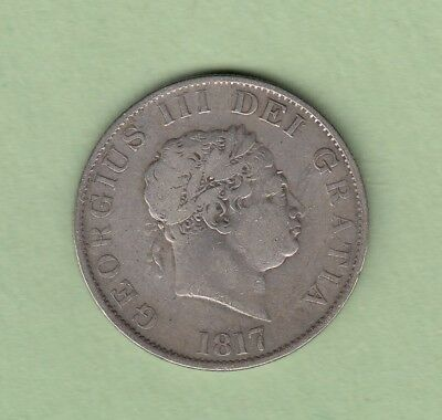 1817 Great Britain 1/2 Crown Silver Coin - George III - Fine