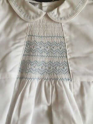 711819943c58 SARAH LOUISE BOYS Cotton Christening Romper 002219 Age 12M White ...