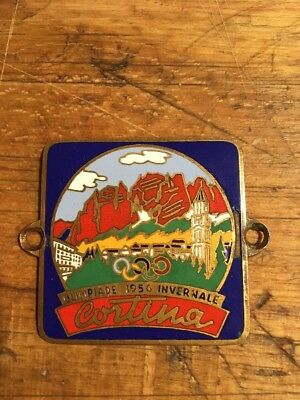 "Autoplakette ""Cortina Olimpiade 1956 Infernale"" Badge, Oldtimerplakette, Email"