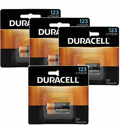 4 x Duracell Ultra Photo CR123A 3V batteries  EL123A  Exp: 2027 or Better