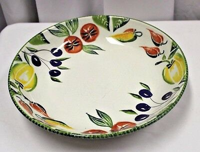 Vintage Hand Decorated Made in Italy Italian Ceramic Serving Bowl