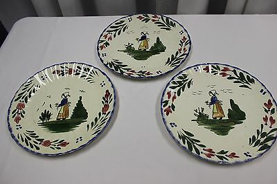 BLUE RIDGE SOUTHERN potteries FRENCH PEASANT DINNER PLATE  3 Total