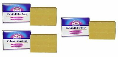 Heritage Store - Colloidal Silver Soap, 3.5 oz (100 g) - 3 Packs