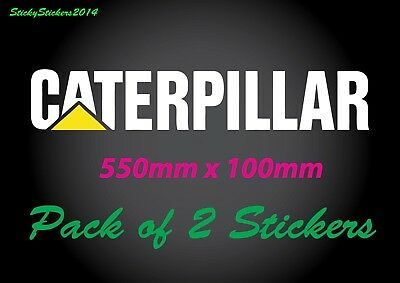 CATERPILLAR STICKER  CAT DECAL LARGE  Machinery Truck 4WD 4x4 Sticker PACK OF 2