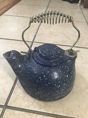 Cast Iron Speckled  Tea Kettle