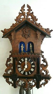 Antique Black forest weather house cuckoo clock 1800s