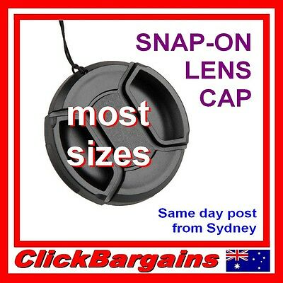 `Centre Pinch Snap on LENS CAP protector cover 49/58/62/67/72/77mm for Canon etc