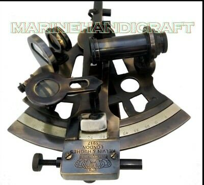 Vintage Nautical Sextant 5 Inches Brass Navy Working Antique Nautical Instrument