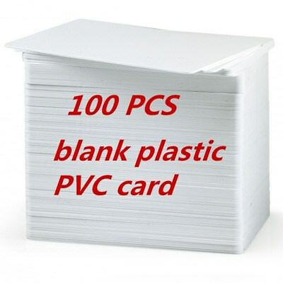 100PCS CR80 30Mil White Blank PVC Plastic Cards for IDcard Printers Newest SW1