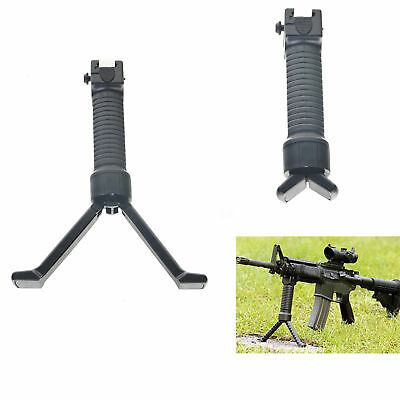 Tactical Rifle Bipod Hand Fore Grip Vertical Foregrip Picatinny Weaver Rail 20mm