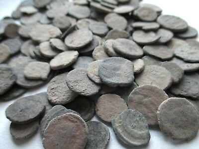 Hoard of Ancient Uncleaned Roman Coins, 2 coins per bid