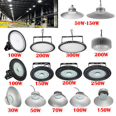 30W- 300W UFO LED High Bay Light Fixture Gym Factory Warehouse Industrial Shed