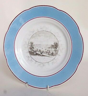 Unusual Victorian Prattware Plate - 1851 Great Exhibition (Crystal Palace)