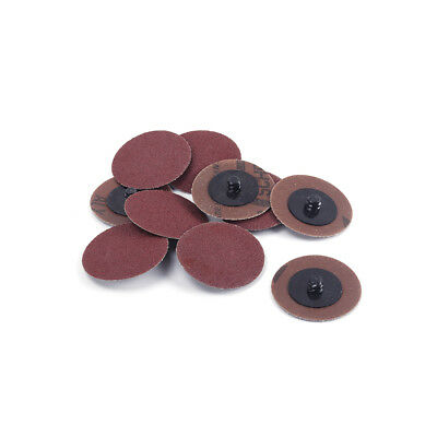 50Pcs 3 Inch 36 Grit Roloc Type R Disc Sanding Abrasive Roll Lock  Pads Grinding