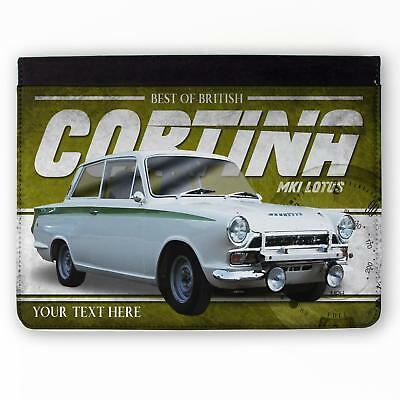 Personalised Ford Cortina mk1 Lotus Classic Car Mouse Mat Pad Computer Gift CL09