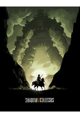Shadows Of Colossus Print A4 A3 Wall Art Home Console Gaming Playstation 1448