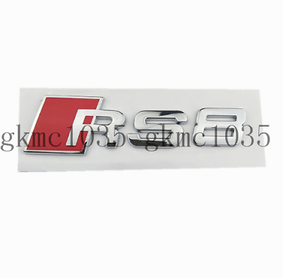 "Shiny Silver /"" S 4 /"" Metal Number Letters Trunk Emblem Badge Sticker for Audi S4"