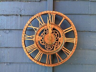Newby Mechanical Wall Clock By Outside In Designs Bronze Garden Wall Clock